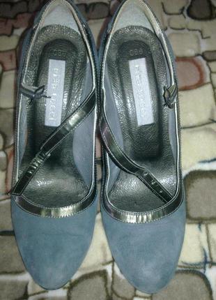 Шикарные замшевые туфли