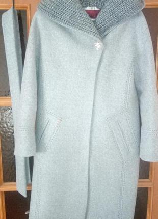 Шикарное, эксклюзивное, шерстяное пальто-миди!!! размер 48