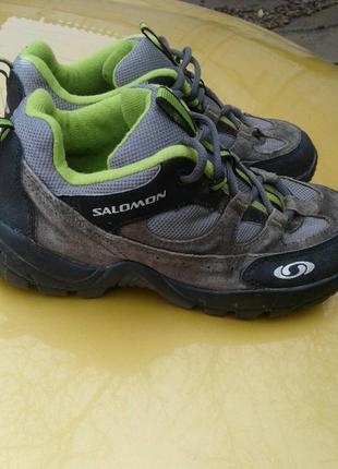 Ботинки кожа текстиль