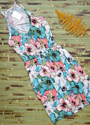Летнее цветочное платье вискоза