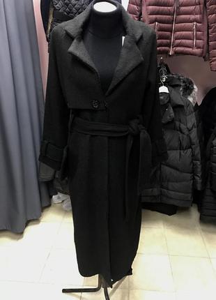 Крутое длинное пальто zalando