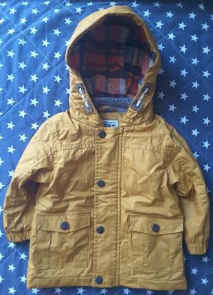 Куртка next теплая демисезонная курточка некст парка дождевик 9-12 мес