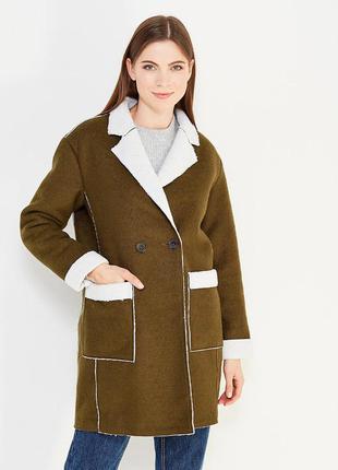 Шерстяное пальто/дубленка h:connect