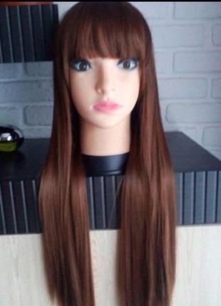 Длинный парик рыжего цвета