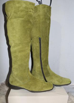 Замшевые кожаные сапоги gabor