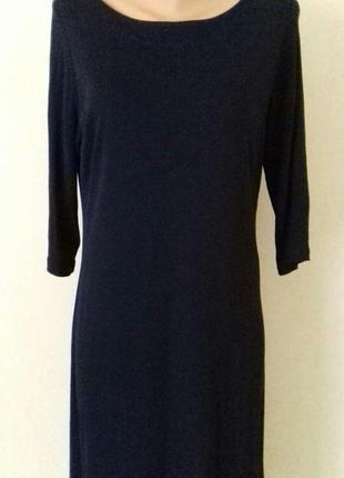 Базовое темно синее платье