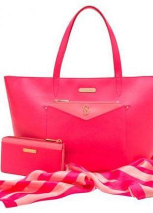 Шикарная кожаная сумка victoria's secret оригинал