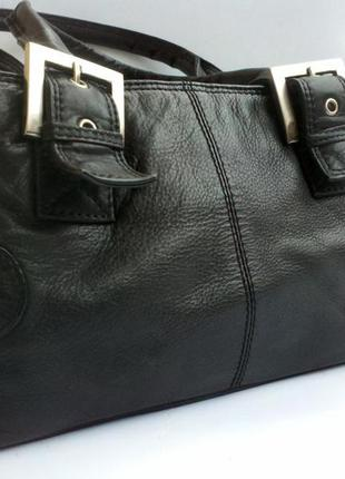 Брендовая кожаная сумочка clarks