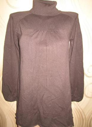 Темно-коричневый гольф, водолазка женская можно для беременных