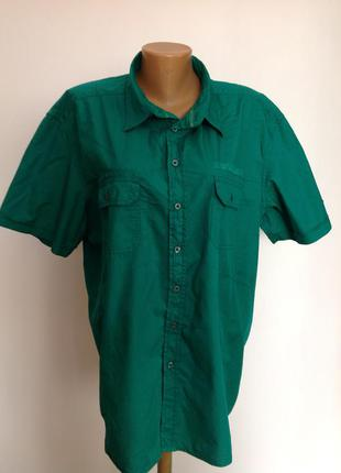 Котоновая большая рубашка. /xxl- xxxl/ brend biaggini
