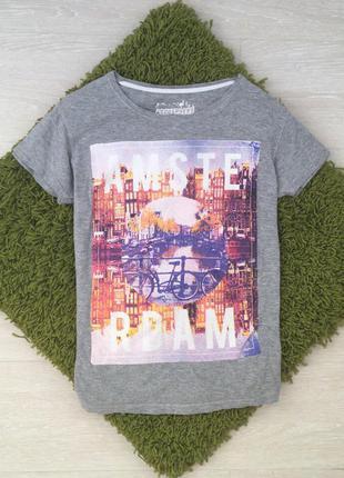 Серач футболка atmosphere в интересный принт  s m