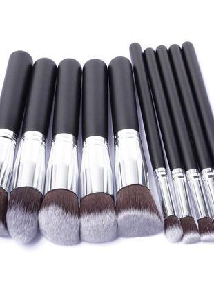 Профессиональный набор кистей для макияжа 10 шт длина 18см