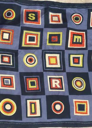 Шелковый подписной платок шов роуль, из натурального шелка 100% шелк