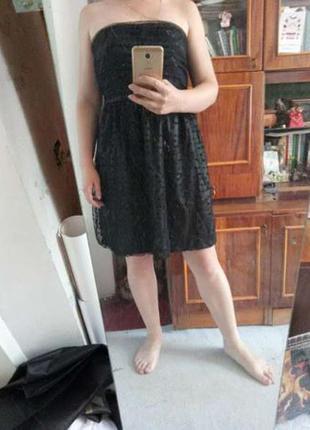Платье reserved черное коктейльное l (европ.42) новое