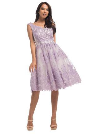 Нежное нарядное кружевное платье chi-chi london! распродажа!