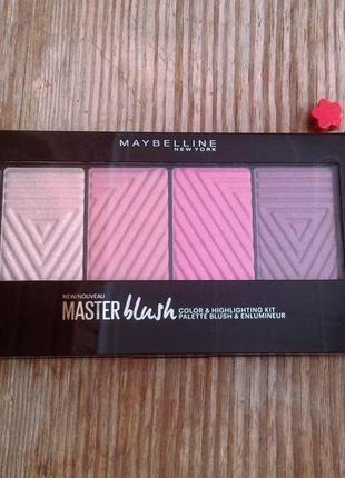 Maybelline палетка румян master blush color & highlighting kit