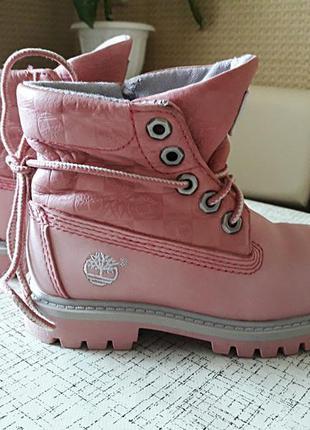 Детские ботинки timberland roll top