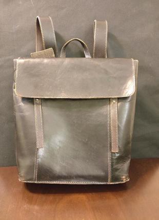 Кожанный хипстерский рюкзак zara