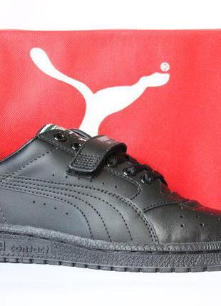 Кожаные кроссовки-сникеры puma sky ii low