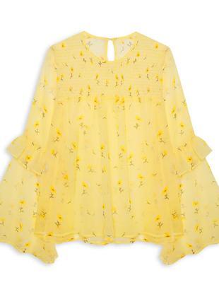 Atmosphere блуза с расклешенными рукавами и рюшами