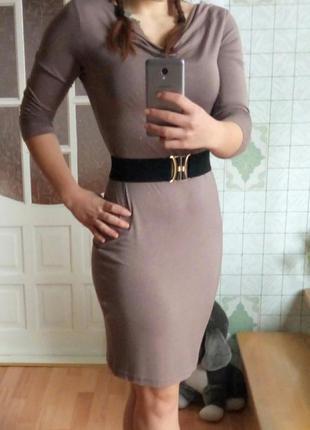 Платье миди базовое. плаття. сукня