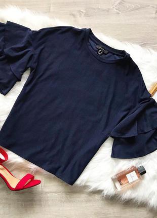 Красивая блуза с воланами на рукавах!