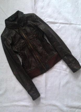 Натуральна фірмова шкіряна куртка