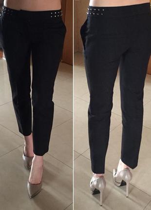 Укорочені брюки із шипами zara,p.xl
