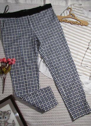 48-50 р фактурные зауженные брюки river island румыния, эластичные и плотные🌺