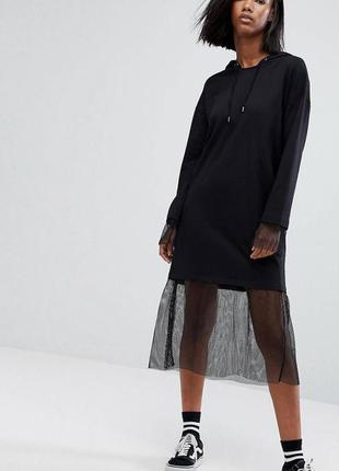 Трендовое платье с сеткой от крутого бренда noisy may