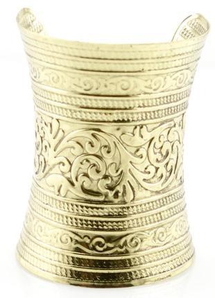 Широкий греческий с чеканкой браслет бижутерия купить просто!