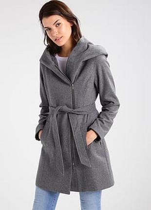 Шикарное пальто zara с огромным капюшоном размер xs-s