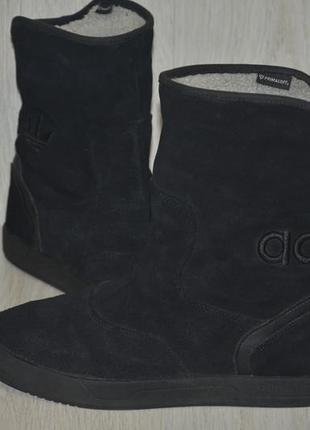 Продам замша зимние сапоги  adidas extaboot
