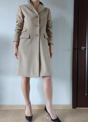 Стильное базовое шерстяное пальто sisley р 42 италия