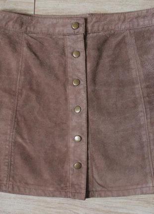 Stradivarius кожаная юбка на кнопках