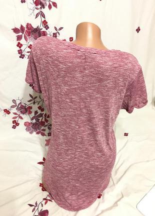 Красивая меланжевая футболка топ / идеал