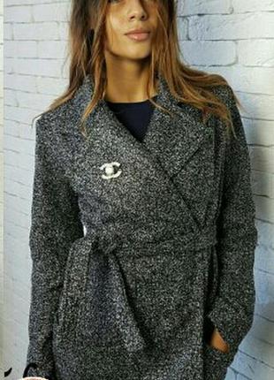 Буклированное пальтишко на запах, бренда dorothy perkins ,48,50,52р.