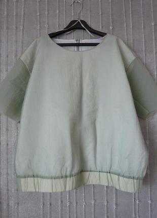 Мятная блуза cos
