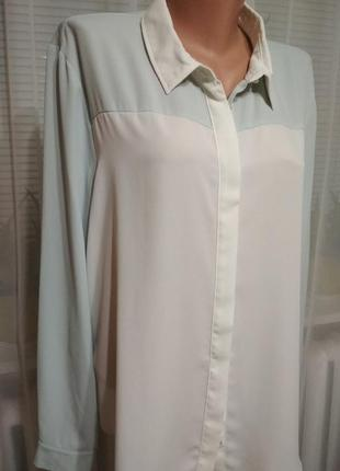 Шифоновая блуза, блузка, рубашка, большой размер. 1+1= 50% скидки на 3ю вещь.