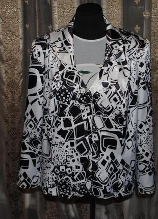 Cкидка!красивый и приятный атласный пиджак польша. 58-60размер