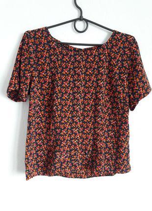 Яркая футболка с бантиком и пуговицами на спинке🆘️(с 14.01-31.01 на все вещи -10%)🆘️