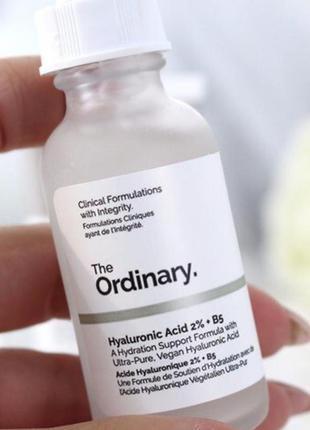Увлажняющая сыворотка the ordinary hyaluronic acid 2% + b5  30 мл