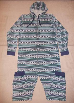 Пижама слип комбинезон ромпер размер m-l, рост 175-185см