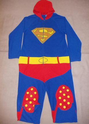 Пижама слип кигуруми комбинезон супермен р.s рост 170-180см