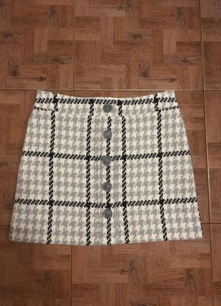 Тёплая юбка в клетку, тренд 2018 года. marks&spencer