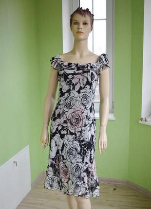 Супер платье в розах от zara