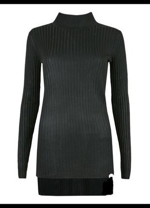 Черный свитер с горловиной missguided,р-р 8,10,12,14