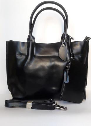 """Женская кожаная сумка  """"camilla"""" черная"""