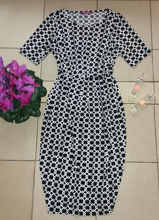 Актуальное платье миди с геометрическим принтом emily rose размер 16