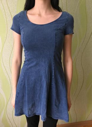 Платье под джинс джинсовое платье